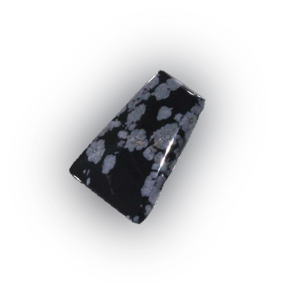 edelsteen obsidiaan sneeuw