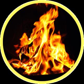reinigen en opladen edelstenen door vuur en vlammen